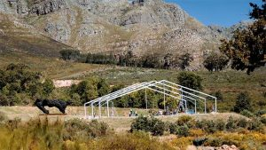 From an open piece of land…we create a useable structure
