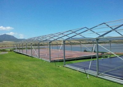Versatile decking means we can place our marquees almost anywhere