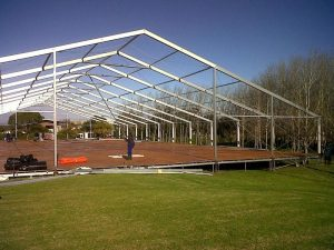 All safety regulations are still adhered to when dismantling our marquees