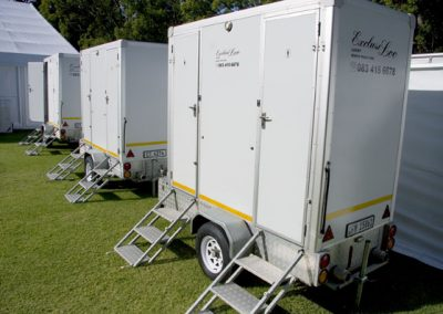 Cost effective screens work well so that guests do not see the toilet area from their entertainment area