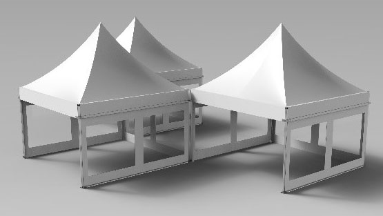 Rendering for a Pagoda/Snow Peak
