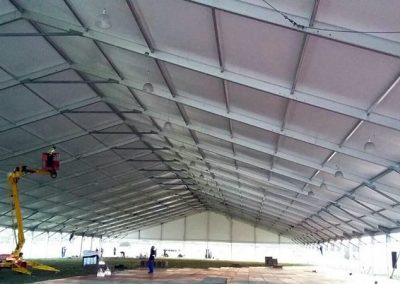 A 50m wide by 100m long can create a quick warehouse for any use